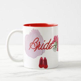 Bride Mug - Our Bride has a veil flowers and shoes