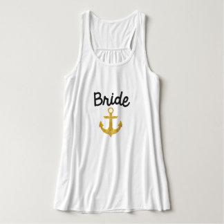 Bride Nautical Anchor Gold Foil Tank