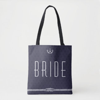 Bride Nautical Wedding Bags With Anchors
