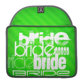 Bride; Neon Green Stripes MacBook Pro Sleeve