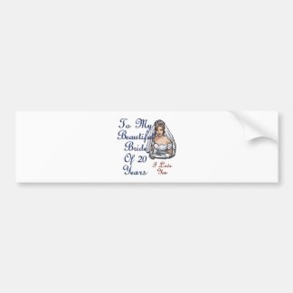 Bride Of 20 Years Bumper Sticker