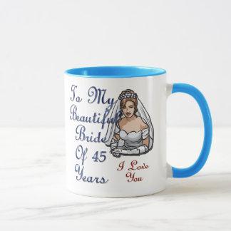 Bride Of 45 Years Mug