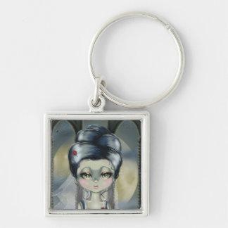 Bride of Franken Silver-Colored Square Keychain