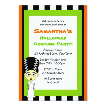 JKLDesigns Bride of Frankenstein Halloween Costume Party Card