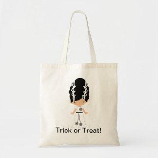 Bride of Frankenstein Halloween Trick or Treat Bag