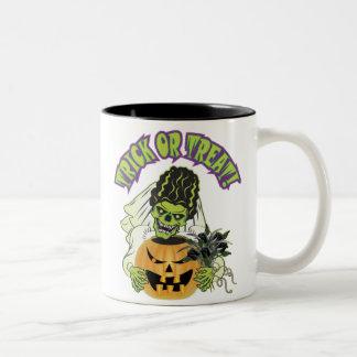 Bride of Frankenstein Skull Two-Tone Coffee Mug