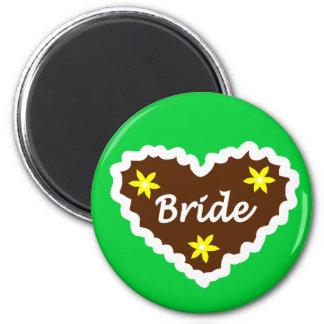 Bride Oktoberfest Heart Design Magnets