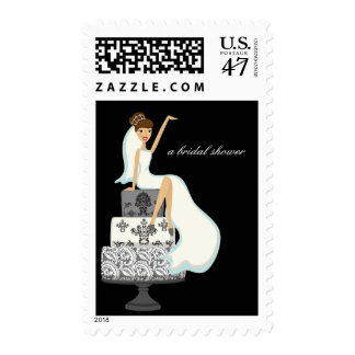 Bride On A Wedding Cake Matching Postage