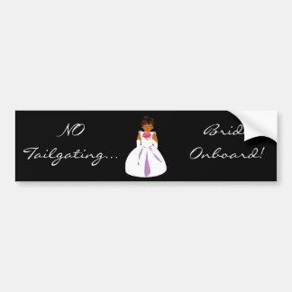 """Bride Onboard"" Bumper Sticker -Customizable"