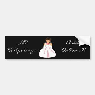 """Bride Onboard I"" Bumper Sticker - Customizable"