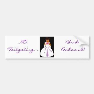 """""""Bride Onboard II"""" Bumper Sticker - Customizable"""