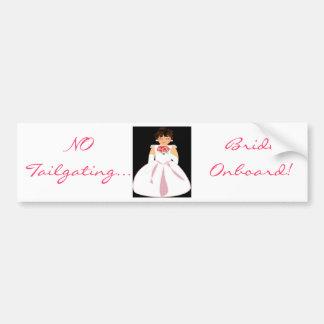 """""""Bride Onboard III"""" Bumper Sticker - Customizable"""