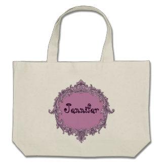 Bride or Bridesmaid Wedding Favor Pink Vintage Tote Bag