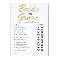 Bride or Groom game fully editable card