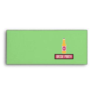 Bride Party Beer Bottle Z6542 Envelope