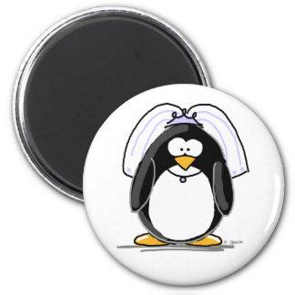 Bride Penguin Refrigerator Magnets
