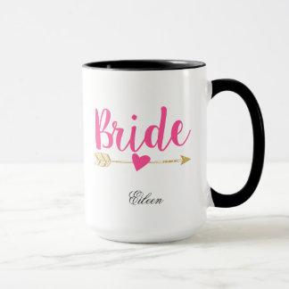 Bride Personalized Hot Pink Mug