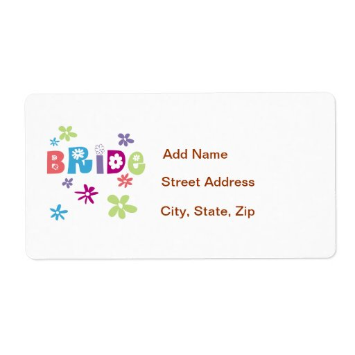 Bride Personalized Shipping Labels