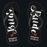 "Bride Personalized Wedding Pick Your Color Flip Flops<br><div class=""desc"">Walk in comfort on your wedding day with these personalized flip flops. These can be customized with a bride"