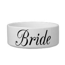 Bride Pet Bowl