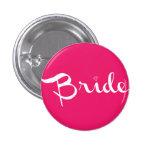 Bride Pin White on Hot Pink