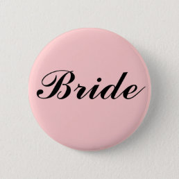 BRIDE PINBACK BUTTON