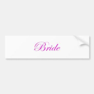 Bride-Pink Bumper Sticker