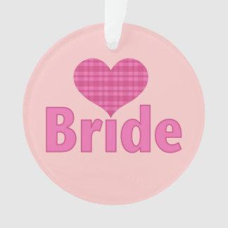 Bride (pink heart) ornament