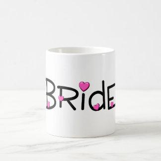 Bride Pink Hearts Coffee Mugs