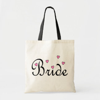 Bride Pink Hearts Tote Bag