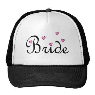 Bride Pink Hearts Trucker Hat