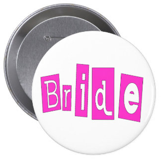 Bride Pink Pinback Button