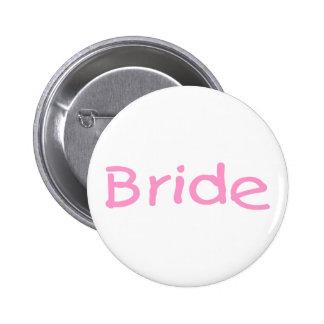Bride (Pink) Pinback Button