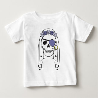 Bride Pirate Skull Lavender Baby T-Shirt