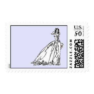 Bride Postage 2 - Customizable Background