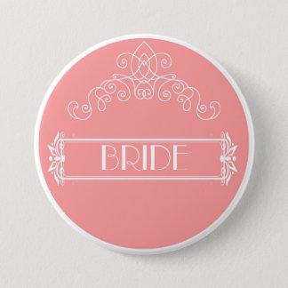 Bride - Pretty in Pink Pinback Button