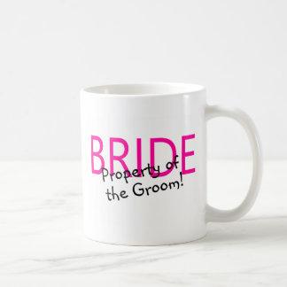 Bride Property Of The Groom Classic White Coffee Mug