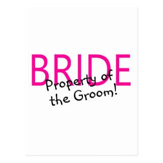 Bride Property Of The Groom Postcard