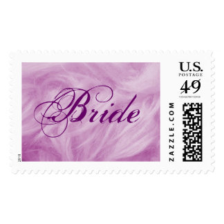 Bride Purple Plume Postage - Customizable