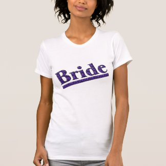 Bride Purple Zebra Print Wedding Party T Shirt