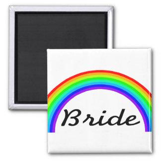Bride (Rainbow) 2 Inch Square Magnet