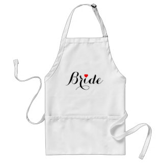 Bride Red Heart Apron