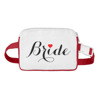Bride Red Heart Fanny Pack