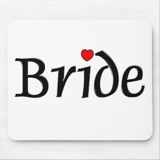 Bride (Red Hearts) Mouse Pad