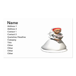 Bride Redhead Business Card