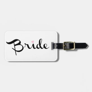 Bride Retro Script Bag Tag