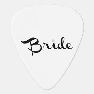 Bride Retro Script Guitar Pick
