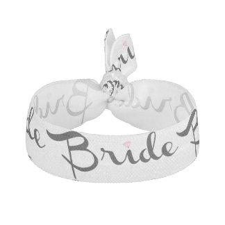 Bride Retro Script Hair Tie