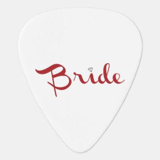 Bride Retro Script Red Guitar Pick