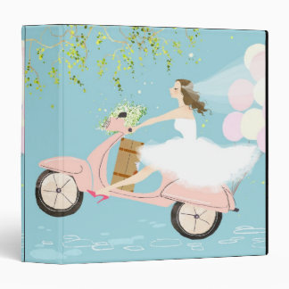 Bride Riding a Scooter Binder